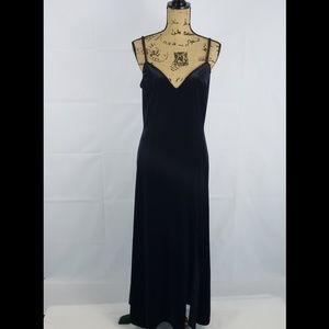 Victoria Secret Velvet Lingerie Maxi dress size M